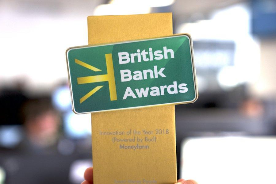 Moneyfarm vince il premio Innovation of the Year ai British Bank Awards 2018
