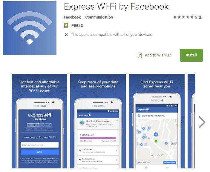Facebook lancia un'app per vendere connessioni wifi low cost (in India e altri paesi)