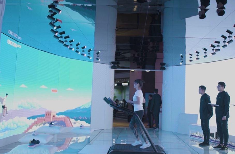Nike Cina crea un gigantesco videogioco in-store per i clienti