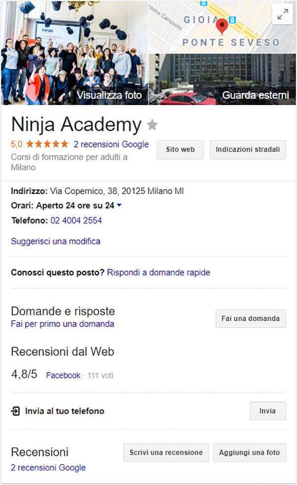 ninja_academy Google My Business