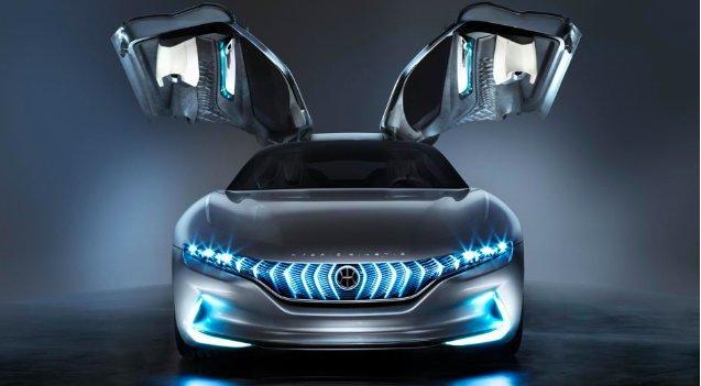 Al motor show di Ginevra la HK GT, la nuova supercar ad ali di gabbiano firmata Pininfarina