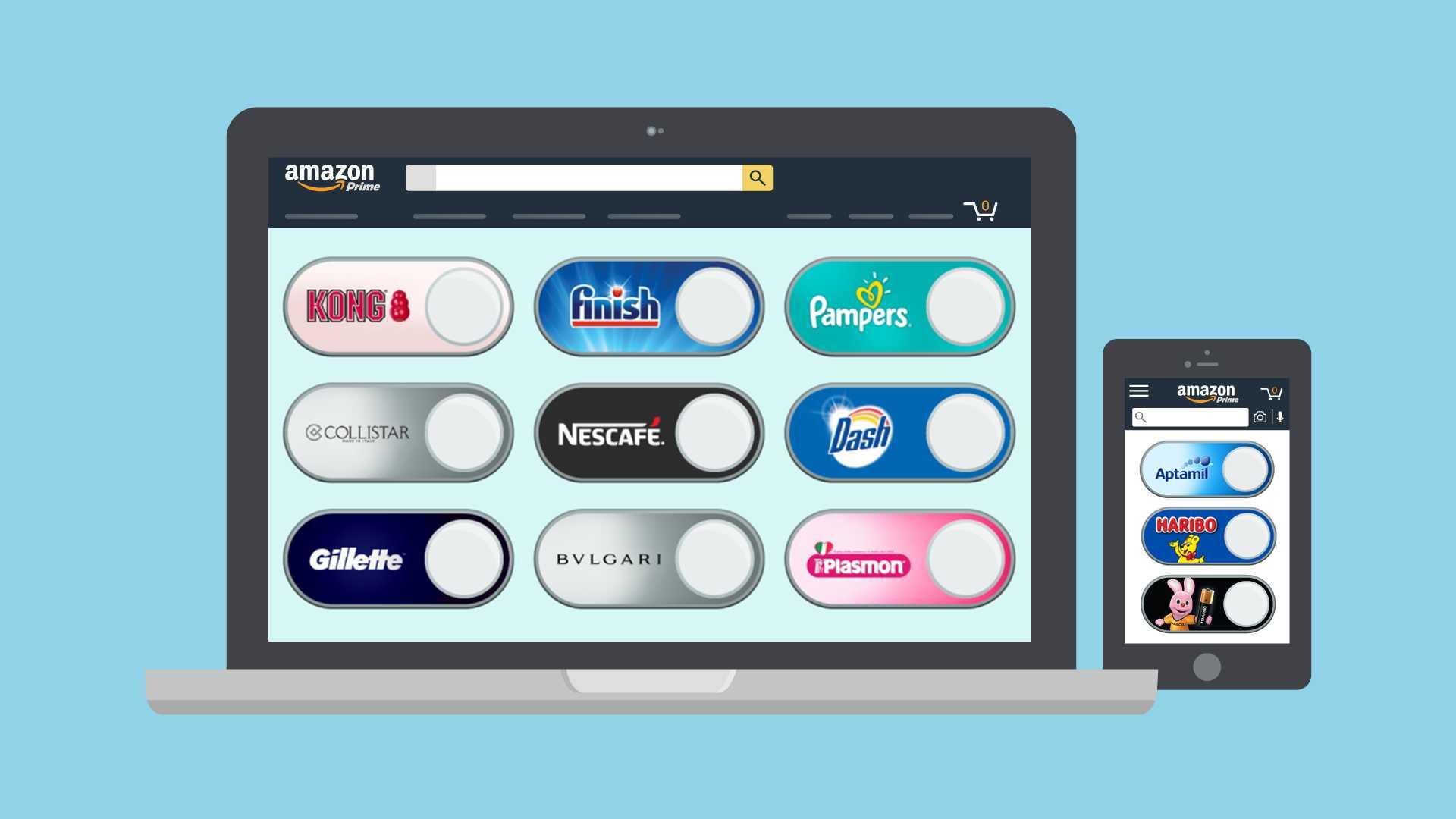 Anche in Italia i Virtual Dash Button di Amazon: che cosa sono e come funzionano