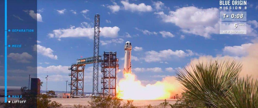 Turismo spaziale, la Blue Origin di Jeff Bezos centra l'ottavo lancio