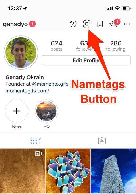 Con le Nametags di Instagram sarai più facile da trovare. Basta una scansione