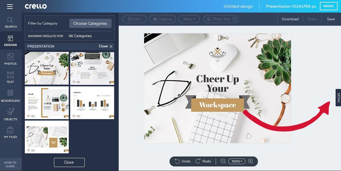 Come creare design multi-pagina in modo gratuito con Crello