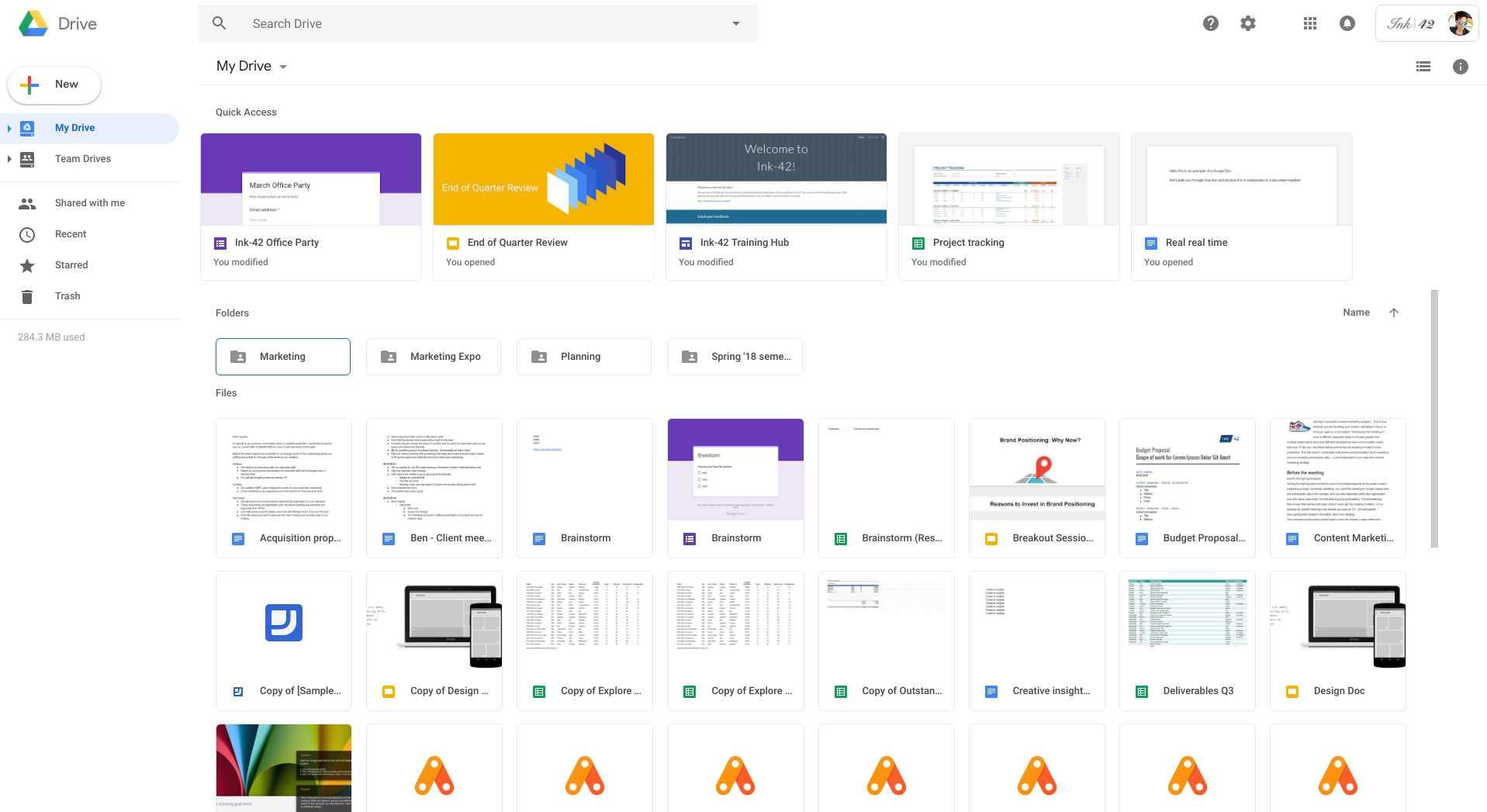 Novità anche per Google Drive, che si allinea al nuovo Gmail
