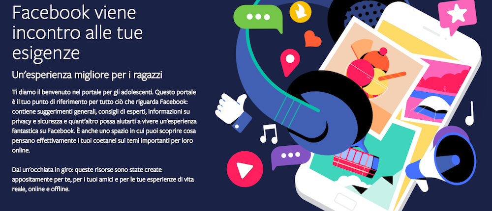 Facebook spiega ai ragazzi come navigare sul social in sicurezza