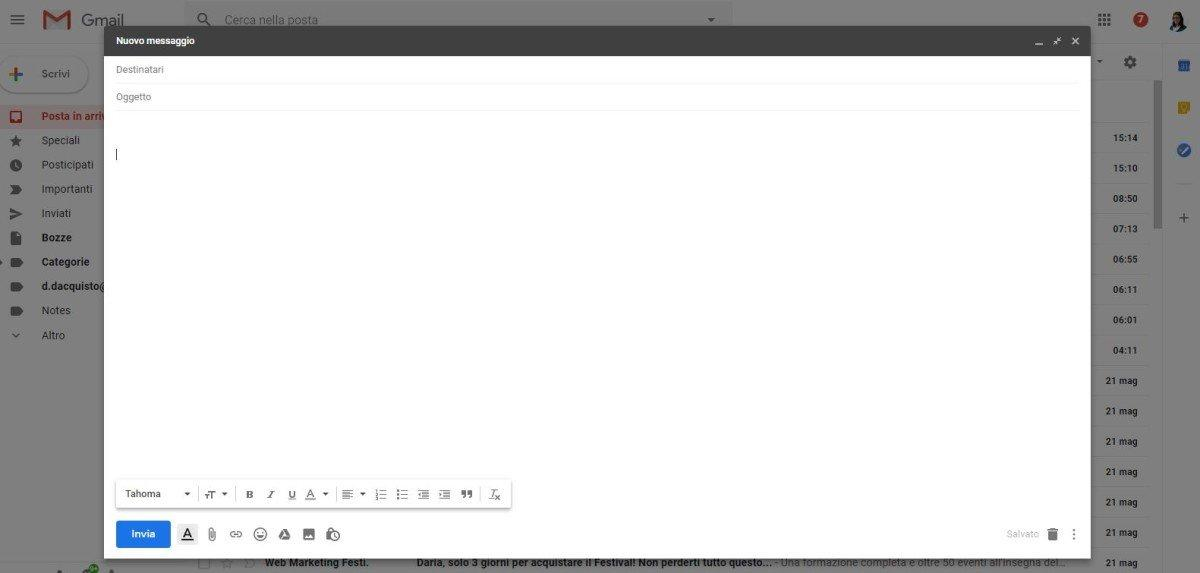 gmail menzioni