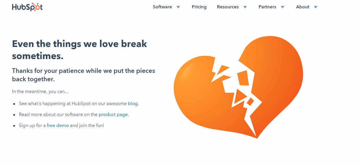 microcopy hubspot error page