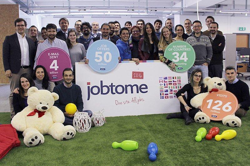 20 milioni di utenti per Jobtome, la società che ti aiuta a cercare lavoro