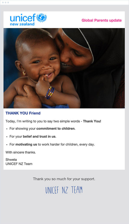unicef esempio marketing automation no profit