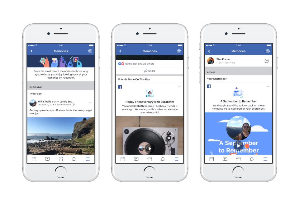 La nuova sezione dei (bei) ricordi. Facebook lancia Memories