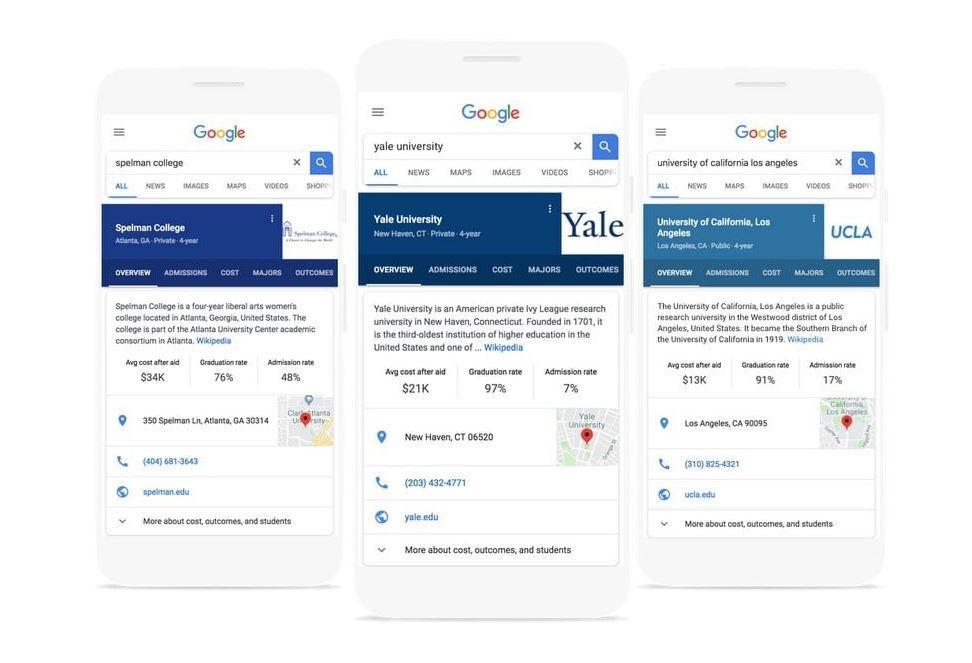 Google ci aiuterà a scegliere la scuola giusta con la funzione di ricerca per il college