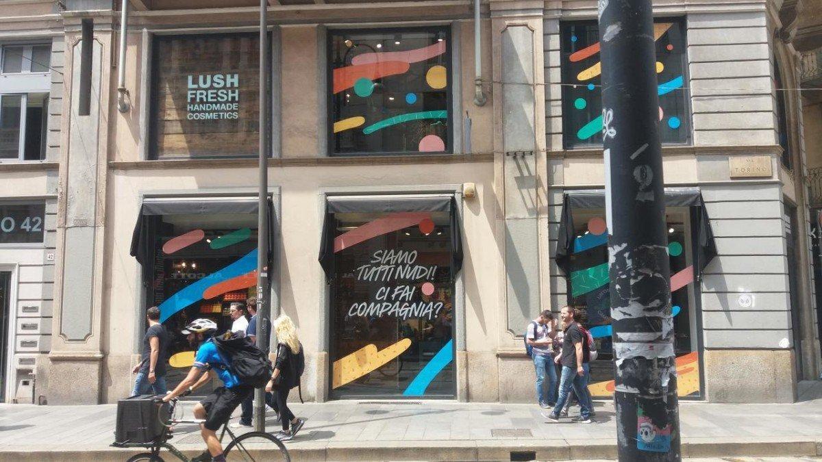 Lush apre a Milano un negozio dove i prodotti non hanno
