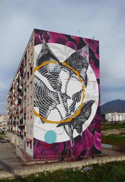 Parco dei Murales di Ponticelli (Napoli Est), opera di Fabio Petani.