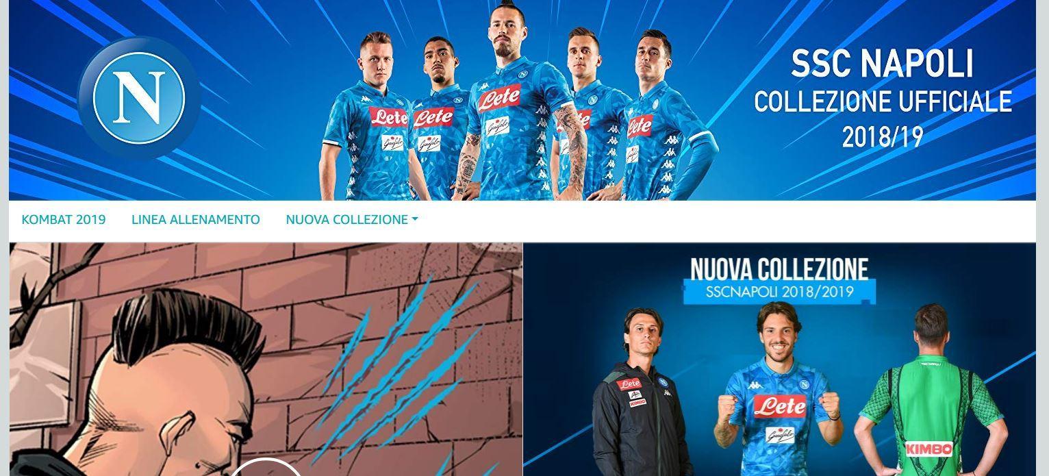 Il Napoli è il primo club di calcio al mondo a lanciare un Amazon Brand Store