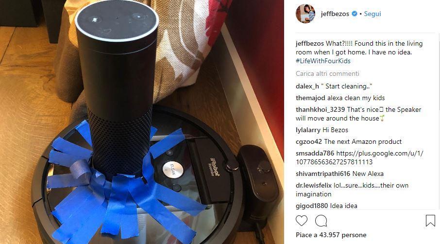I figli di Jeff Bezos hackerano un Amazon Echo (e lui posta la foto su Instagram)