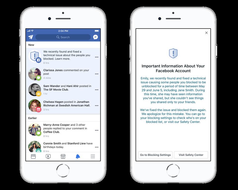 Facebook, un altro bug: avaria alla blacklist di 800 mila persone