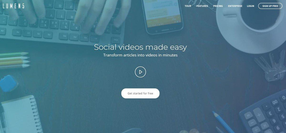 lumen5 startup mosaicoon video