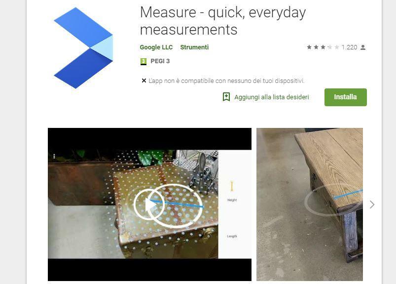 Google lancia un'app per misurare basata sull'AR (e batte Apple sul tempo)