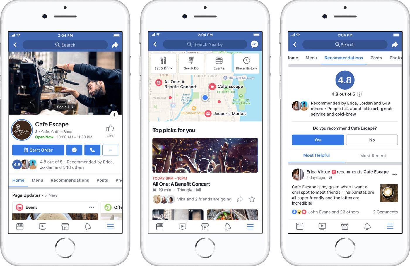 Cosa cambia nel nuovo design delle pagine sull'app di Facebook