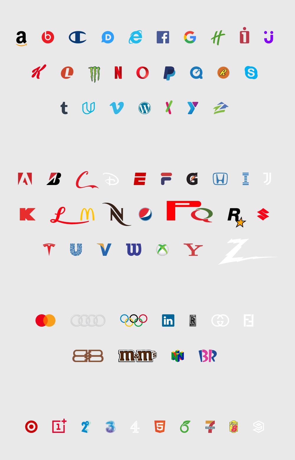 Brand New Roman Font Logos