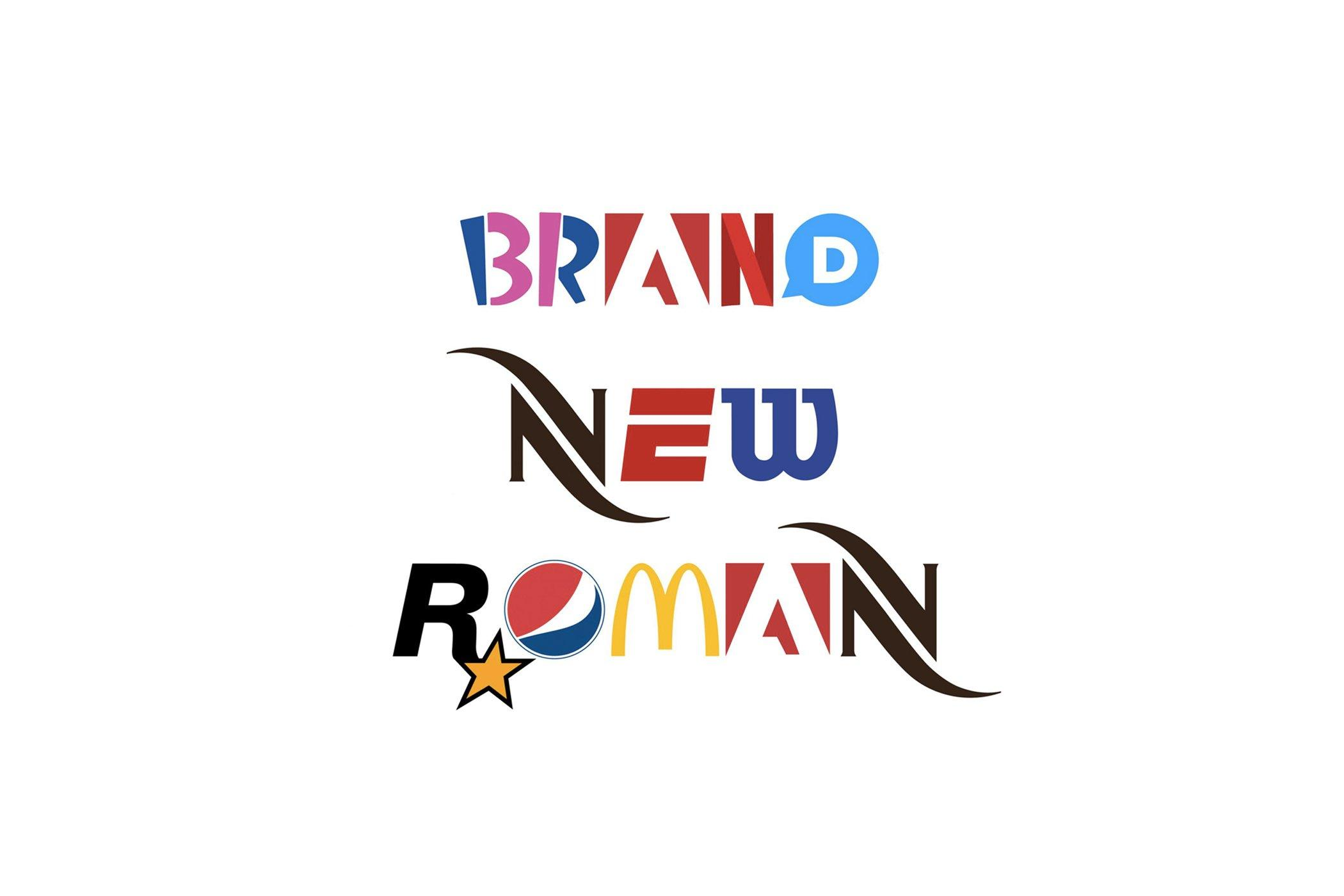 Brand New Roman è il font ispirato ai loghi dei brand più famosi