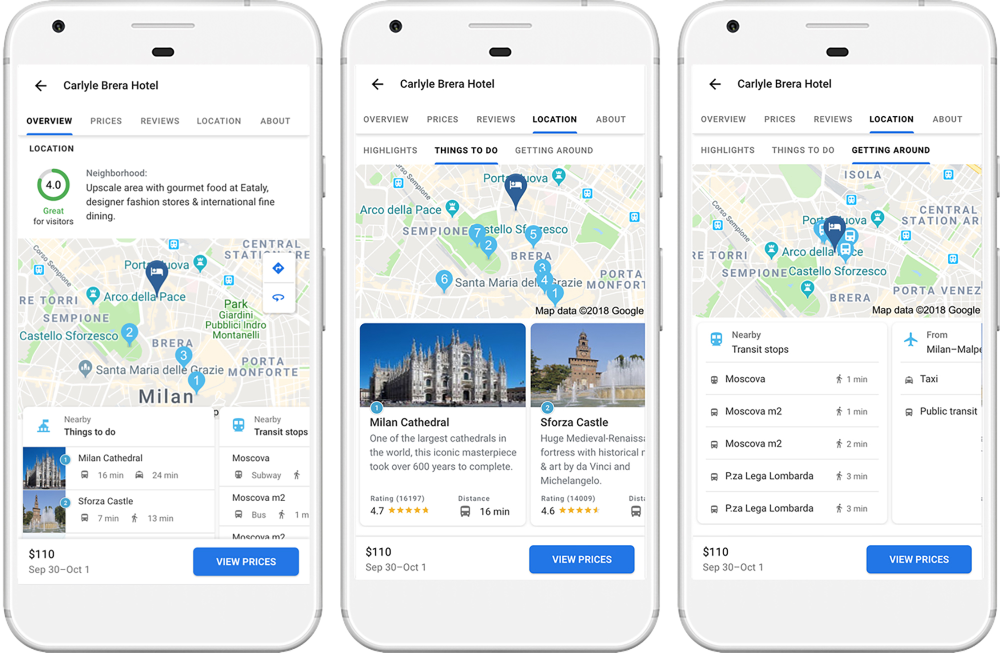 Google lancia nuovi strumenti per la pianificazione dei viaggi
