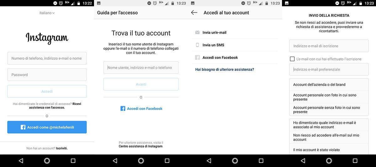 ti hanno hackerato account instagram