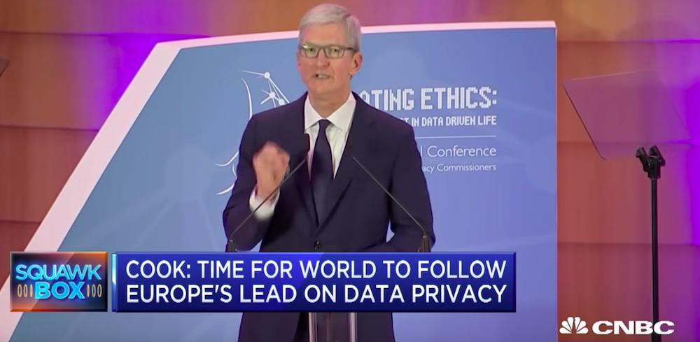 Tim Cook a Bruxelles, il suo speech sulla privacy in 5 punti