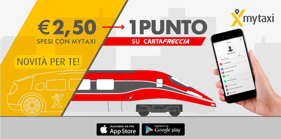 Un buono mytaxi a metà prezzo, la nuova offerta di Trenitalia