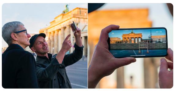 Tim Cook ha iniziato il suo tour in Europa con 2 app di Realtà Aumentata
