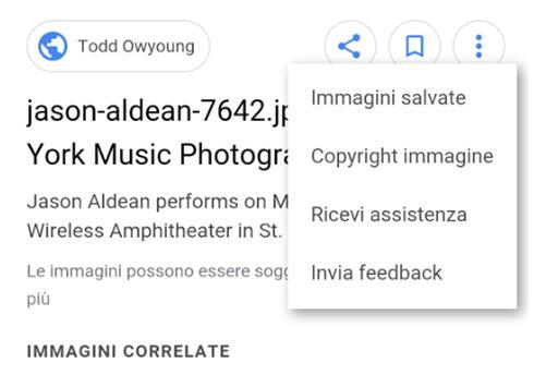 Su Google Immagini ora c'è il tag con le informazioni sul proprietario e la licenza d'uso