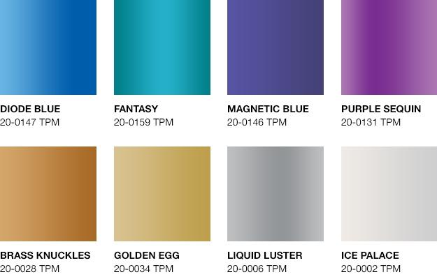 Pantone si ispira alla tecnologia per le sue nuove tonalità metallizzate