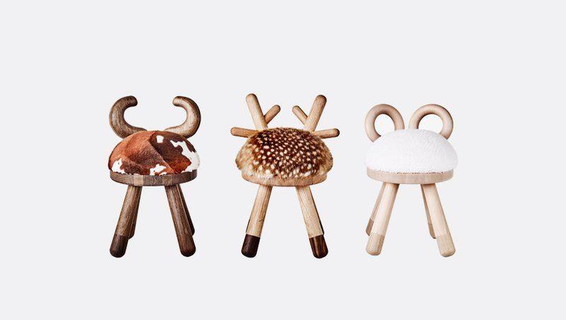 Cow Bambi Sheep Chairs