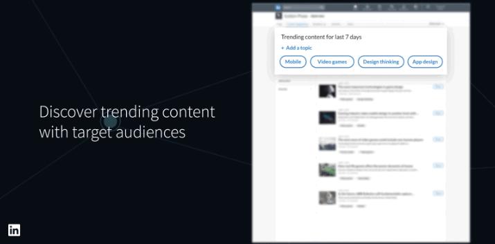 nuove pagine aziendali linkedin content suggestions