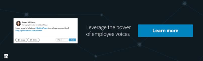 nuove pagine aziendali linkedin employee voice