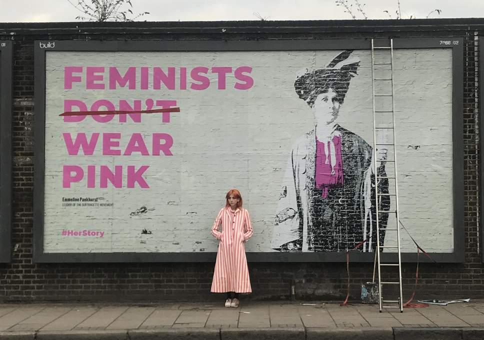 Un progetto di street art ha celebrato a Londra il centenario del voto alle donne