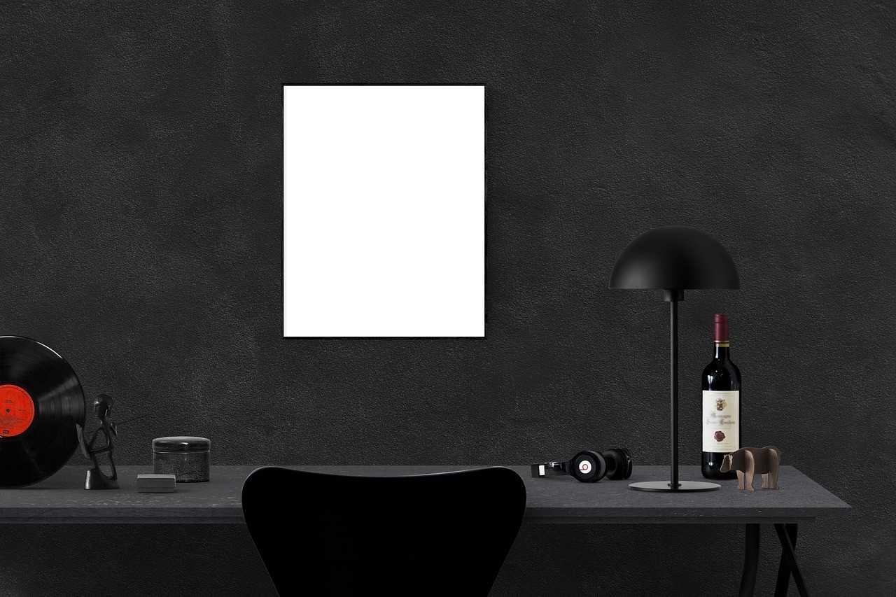 nero, pareti nere, interior design 2018