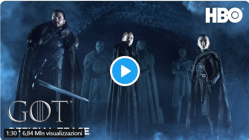 HBO annuncia la data di inizio dell'ultima stagione di Game of Thrones con un trailer