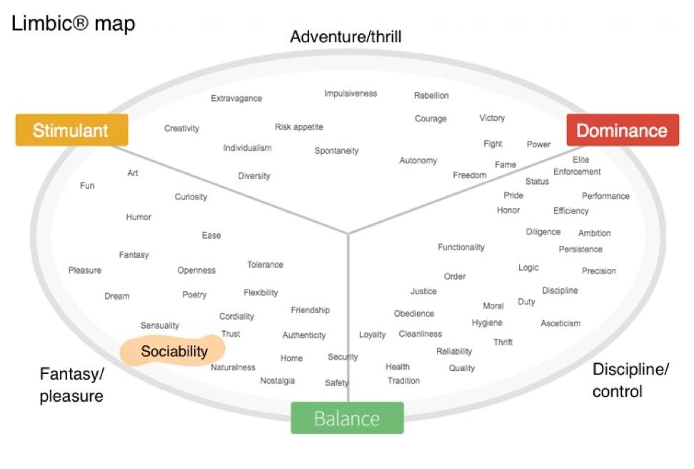 Marketing emozionale: limbic map