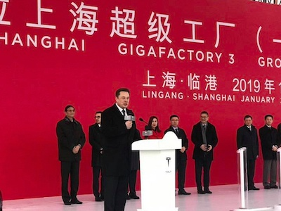 Elon Musk costruirà una gigafactory a Shanghai per le sue Tesla