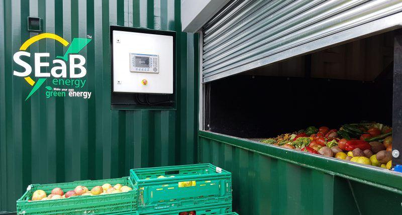 container e impianto di digestione anaerobica di seab energy