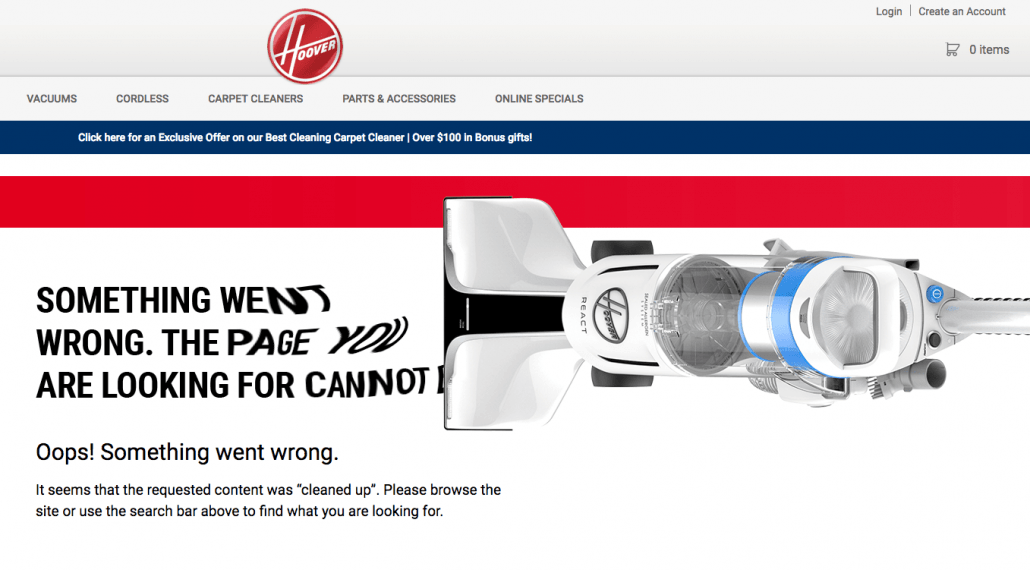 hoover 404 error page