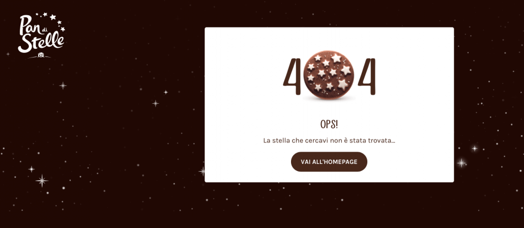 pan di stelle 404 error page