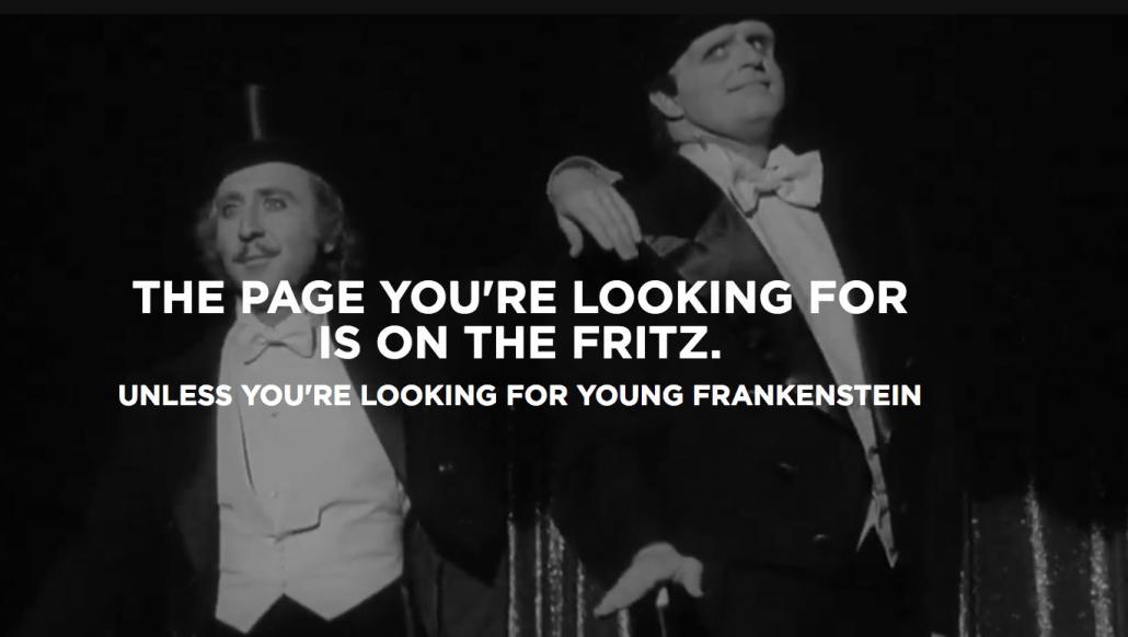 fox movies 404 error page