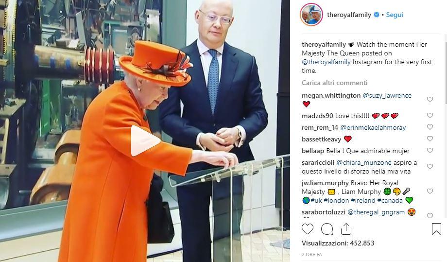 Il debutto su Instagram della Regina Elisabetta è un successo che fa concorrenza ai più quotati influencer