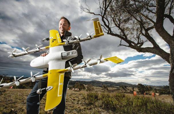 I droni di Google Wings stanno già consegnando cibo, caffè e medicine in Australia