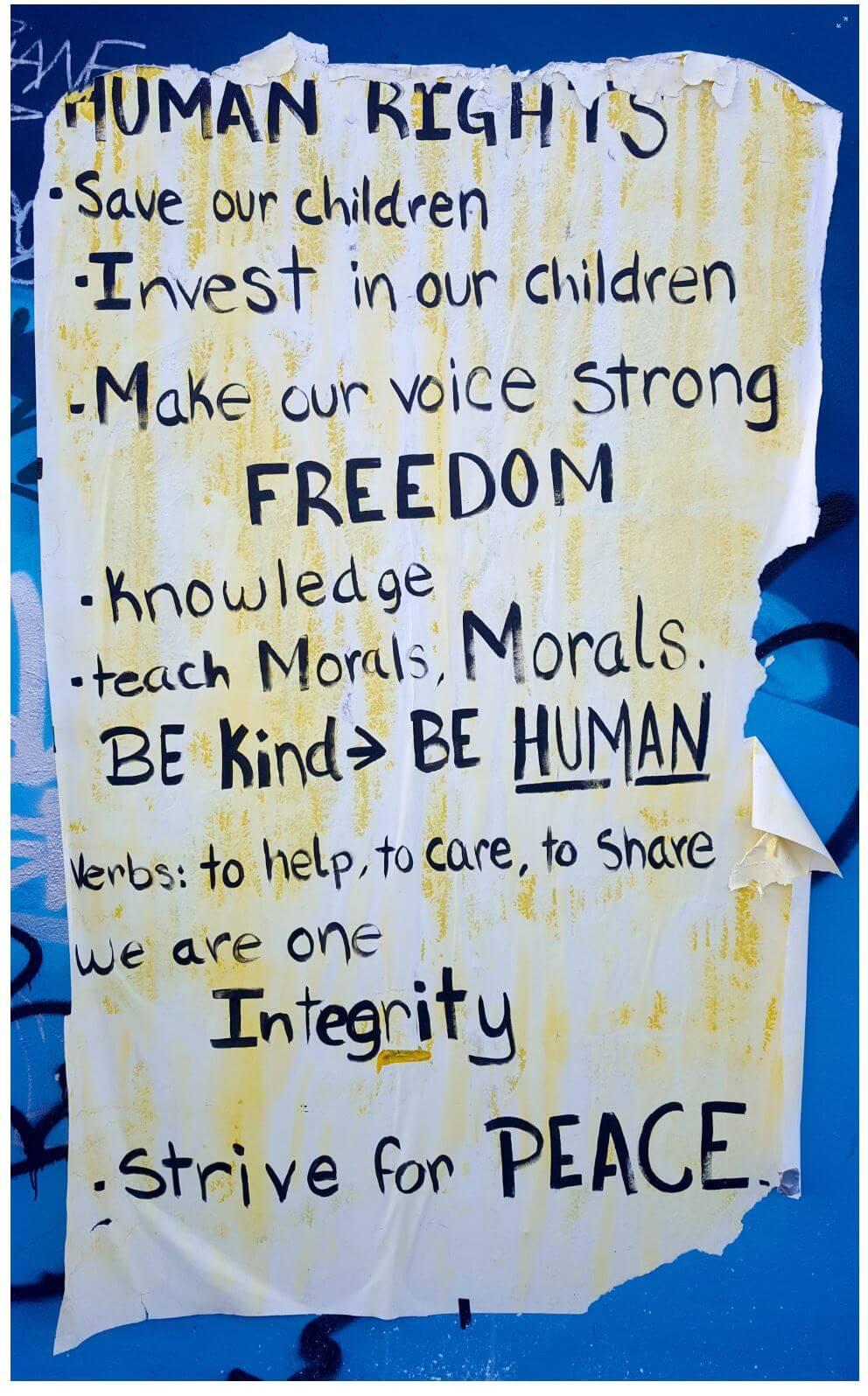 Cambiare il mondo: human rights