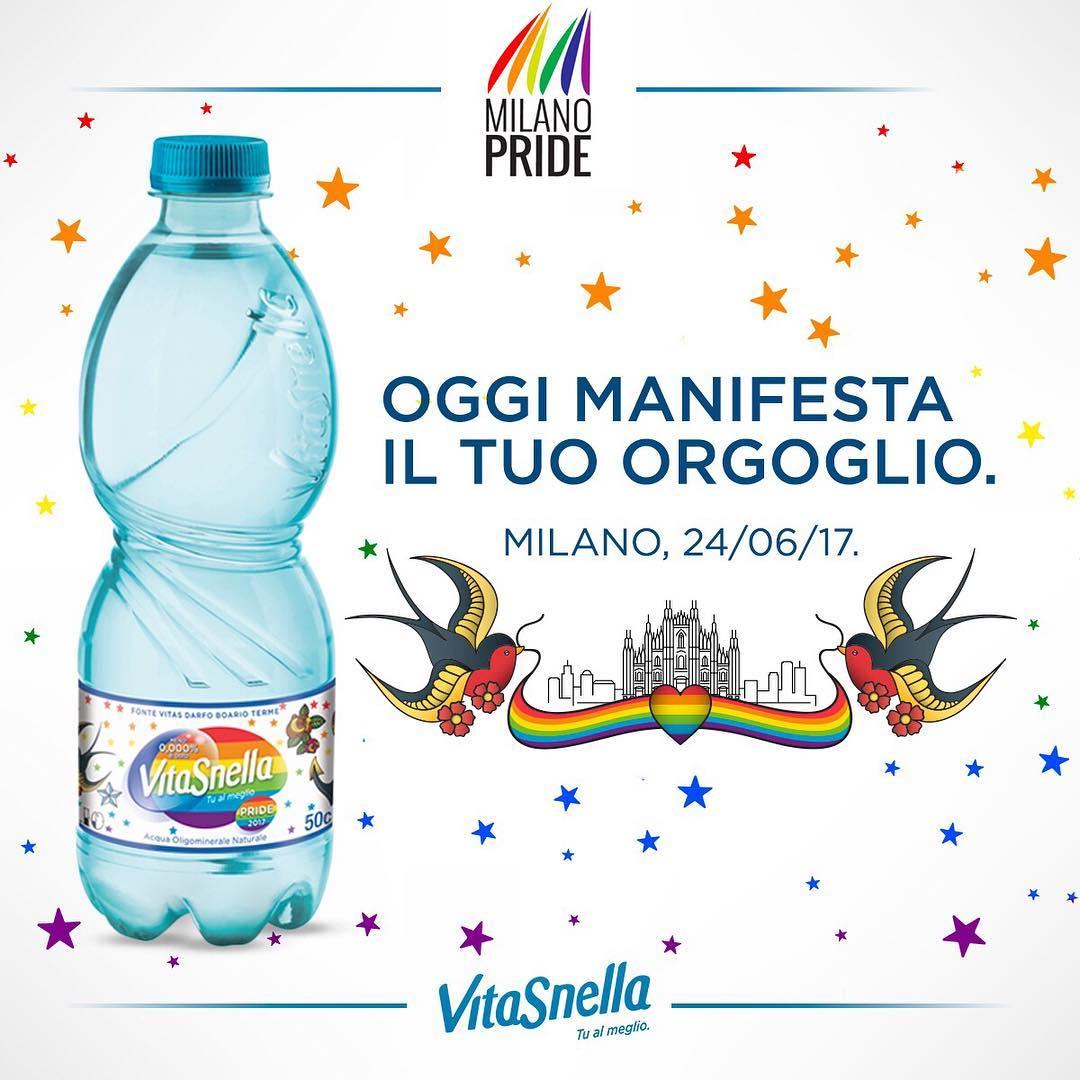 acqua vitasnella, pride, giornata internazione contro l'omofobia